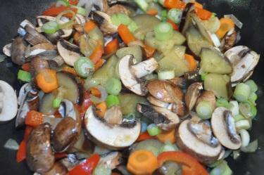Ratatouille-Aubergine-Zwiebel-Tomate-Paprika-Möhre-Champignons-Frühlingszwiebel-Schnittlauch-4