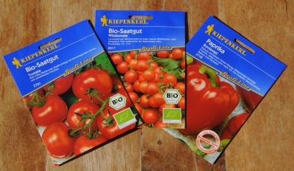 Demnächst gibt es eigene Tomaten und Paprika.