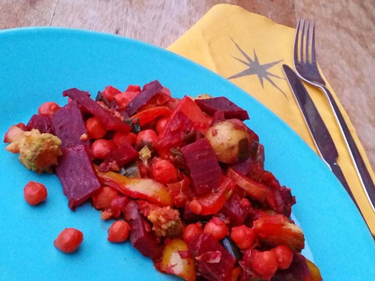 Rote-Bete-Curry mit Romanesco und Kichererbsen 10