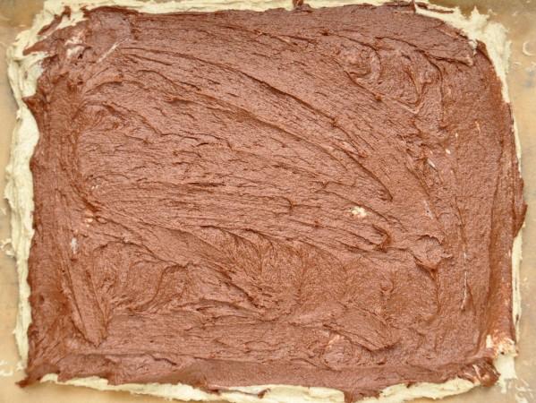 Donauwellen-Teig-Schokolade